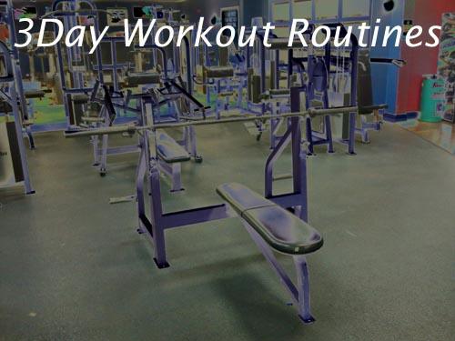 3 day split workout routines.