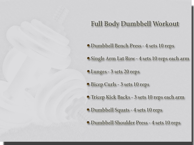 Simple Dumbbell Workout Routine