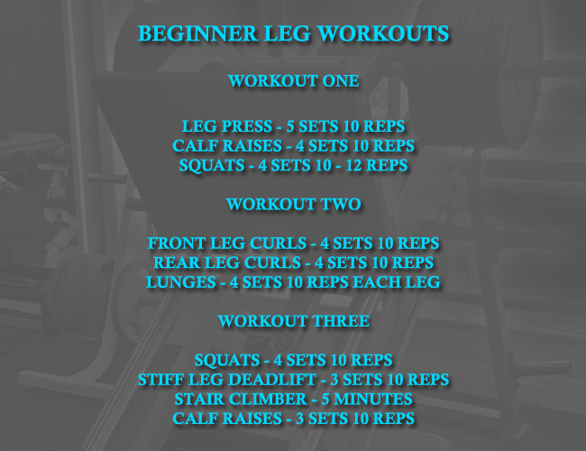 Leg workout routine for beginners.