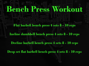 Chest Bench Press Workout