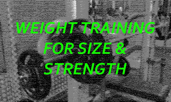 weight training for size and strength