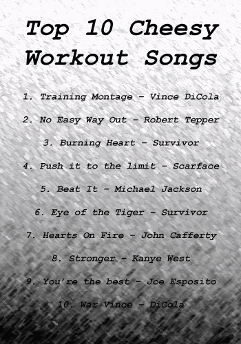 Top Cheesy Motivational Workout Songs Simple Beginner