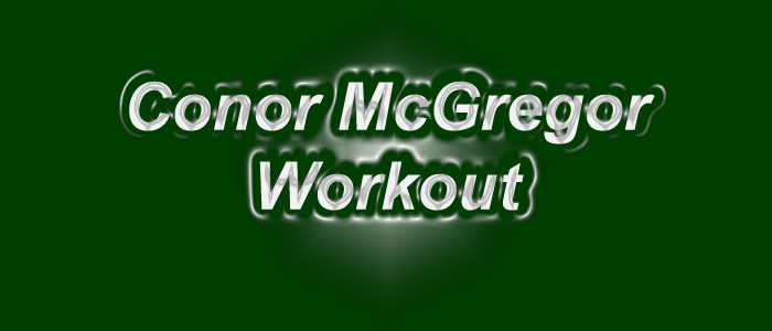 Conor McGregor Workout Routine