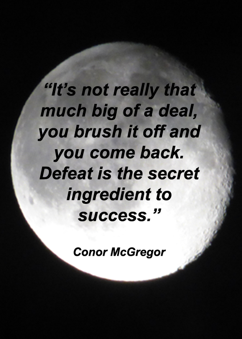 Conor McGregor Success Quote