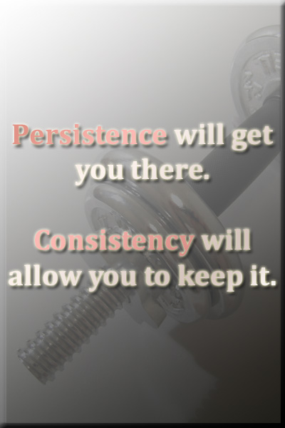 Persistence & Consistency Fitness Quote, Motivation