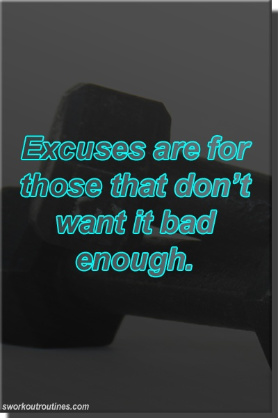 Excuses Fitness & Workout Quote