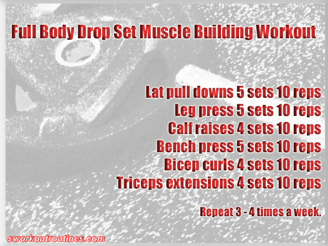 Simple Drop Set Muscle Building Workout.