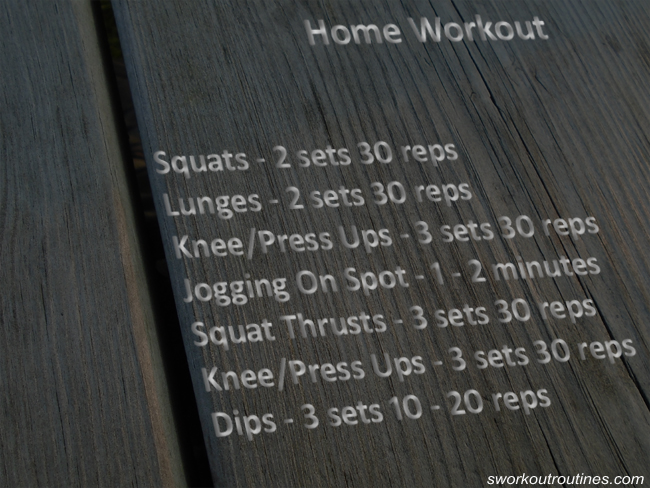 Simple Home Workout Routine